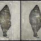 Fishy Striptease, pt 1...4 / © IL 2013 / mixed media, 4pcs x 18x24